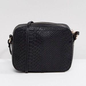 ASOS DESIGN Snake Effect Crossbody Camera Bag